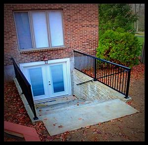 decorative concrete egress windows basement doors retaining walls